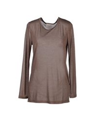 Crumpet Long Sleeve T Shirts Dove Grey