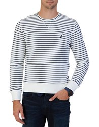 Nautica Cotton Pullover Sweatshirt Marshmallow