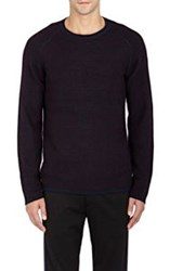 Vince. Thermal Cashmere Sweater Blue