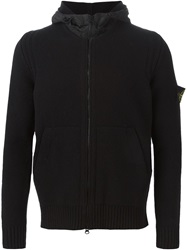 Stone Island Knitted Hooded Jacket Black