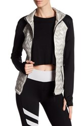 Betsey Johnson Quilted Hybrid Jacket Gray