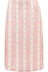 J.Crew Collection Sequined Silk Georgette Midi Skirt Pink