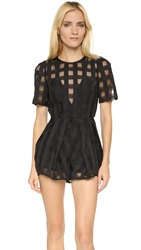 Alice Mccall Walk On By Romper Black