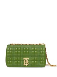 Burberry Small Quilted Check Lambskin Lola Bag Green
