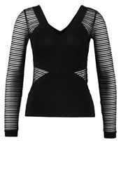 Morgan Terla Long Sleeved Top Noir Black