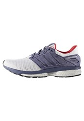 Adidas Performance Supernova Glide 8 Neutral Running Shoes White Super Purple Ray Red