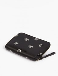 Lanvin Black Spider Motif Wallet