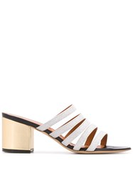 Via Roma 15 Strappy Heeled Sandals Gold