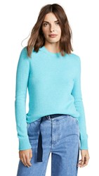 Barrie Cashmere Crew Neck Pullover New Blue