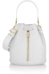 Elizabeth And James Cynnie Croc Effect Leather Bucket Bag