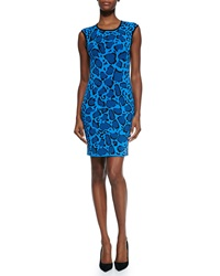Ohne Titel Leopard Print Reversible Knit Dress Blue Black