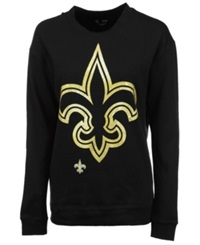 5Th And Ocean Women's New Orleans Saints Athletic Sweatshirt Black Gold