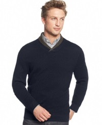 Club Room Merino Wool Double Shawl Collar Sweater Only At Macy's