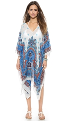 Theodora And Callum Hvar Caftan Blue Multi