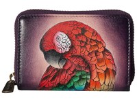 Anuschka Handbags 1110 Credit And Business Card Holder Rainforest Royalty Coin Purse Multi
