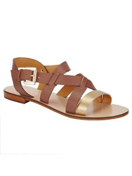 Phase Eight Lucie Leather Sandals Brown