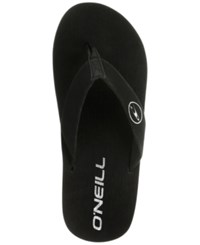 O'neill Phluff Daddy Thong Sandals Black Solid