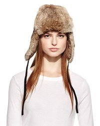 Surell Rabbit Fur Trapper Hat Heather Grey