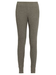 Atm Anthony Thomas Melillo Ribbed Jersey Leggings Grey