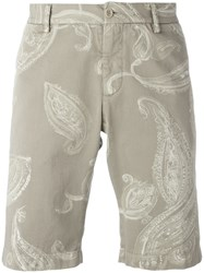 Etro Paisley Print Chino Shorts Green