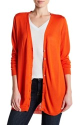 Joseph A Hi Lo Button Front Cardigan Red