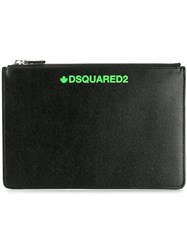 Dsquared2 Printed Logo Coin Pouch Black
