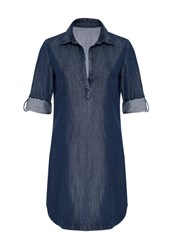 Hallhuber Denim Long Tunic Dark Blue