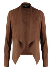 Dorothy Perkins Faux Leather Jacket Tan
