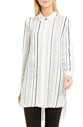 Vince Camuto Women's Pencil Stripe Tunic Shirt