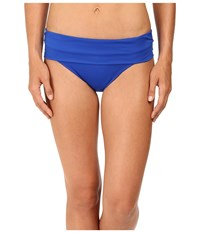 Jantzen Solids Shirred Waist Bottom Seaside Blue Women's Swimwear