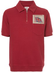 Kent And Curwen Embroidered Flag Polo Shirt