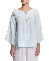 Eskandar Pleated Handkerchief Linen Top Seamist Size 1
