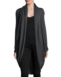 P. Luca Draped Open Front Cocoon Cardigan Charcoal
