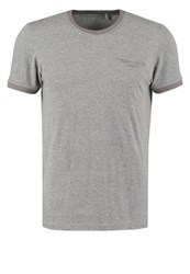 Teddy Smith Print Tshirt Gris Chine Mottled Grey