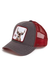 Goorin Bros. Men's Goorin Brothers 'Animal Farm Buck Fever' Trucker Cap Brown Brown Red