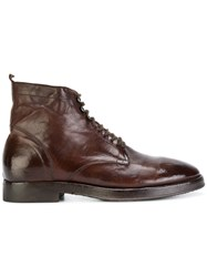 Alberto Fasciani Ankle Boots Calf Leather Leather Rubber 42.5 Brown