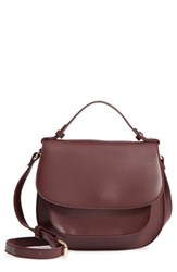 Sole Society Faux Leather Crossbody Bag Burgundy Oxblood