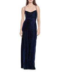 Ralph Lauren Velvet Gown Deep Blue