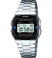 Casio A163wa 1Qes Stainless Steel Digital Watch Lcd