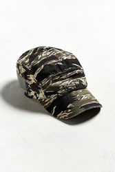 Urban Outfitters Camo 5 Panel Hat Olive