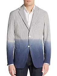 Gant By Michael Bastian Striped Dip Dyed Seersucker Jacket