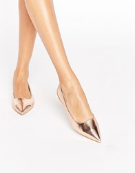 Raid Agatha Rose Gold Point Flat Shoes Rose Gold