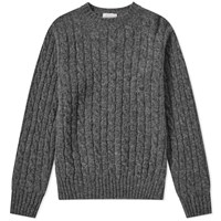 Jamiesons Of Shetland Jamieson's Cable Crew Knit Grey