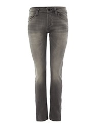 Jack And Jones Men's Glenn Slim Fit Indigo Knit Denim 101 Grey