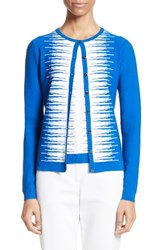 St. John Women's Collection Stripe Intarsia Knit Cardigan