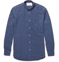 Our Legacy Generation Linen And Cotton Blend Shirt Blue