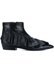 J.W.Anderson Ruffle Detail Boots Black