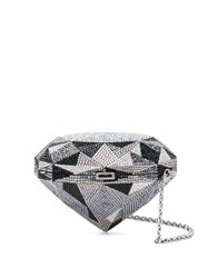 Judith Leiber Couture Embellished Clutch Bag Silver