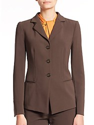 Armani Collezioni Stretch Wool Blazer Brown