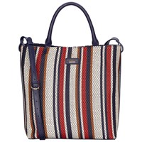 Fiorelli Mckenzie North South Tote Bag Navy Weave